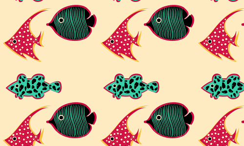 Little free fish patterns