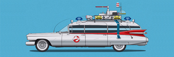 Cool Rides From Famous Films Illustrated With Style