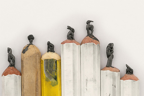 Graphite Pencil Sculptures