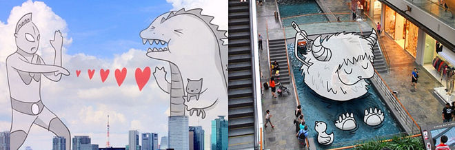 Travel Photos Decorated With Fun And Creative Doodle Illustrations