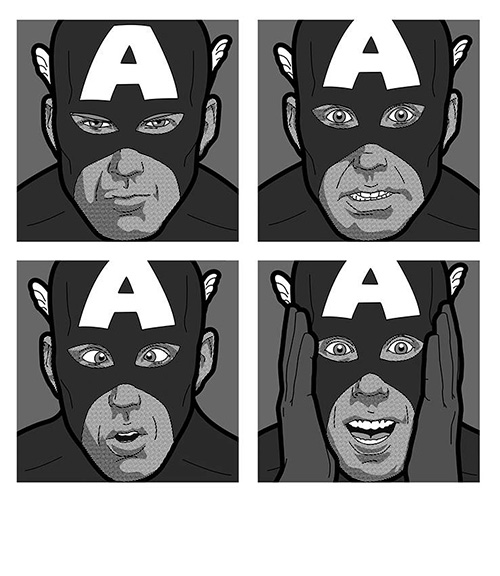 Secret Life of Super Heroes Captain America