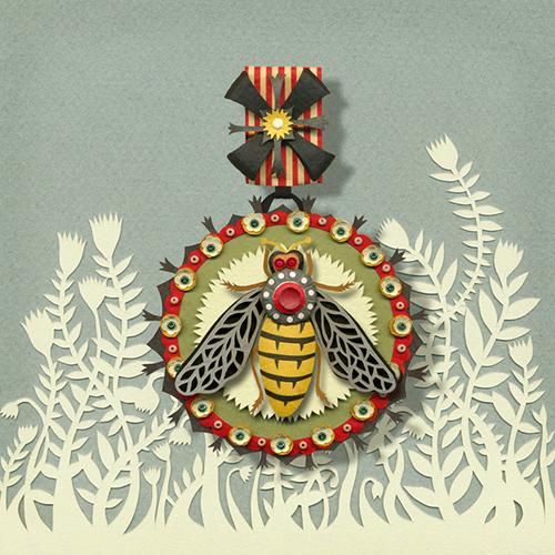 Framed Bee Medal
