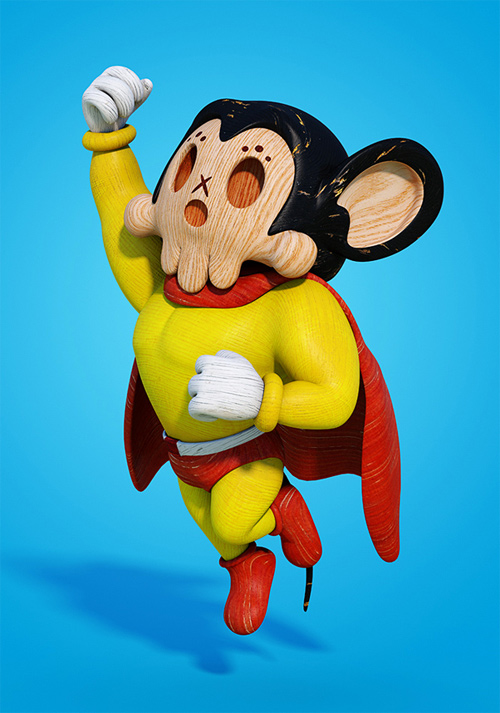 5 Famous Cartoon Characters : Amazing d designs of famous cartoon characters naldz