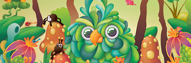 Enjoy Fun And Creativity With These Colorful Monster/Animal Illustrations