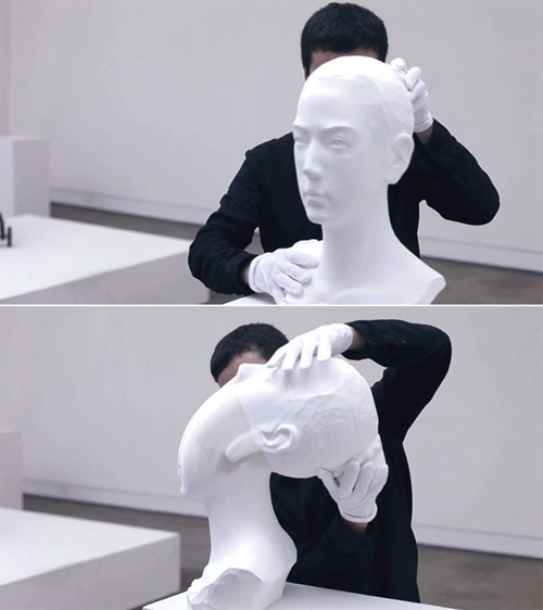 Li Hongbo flexible paper sculptures