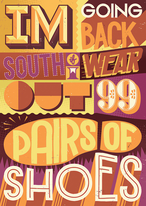 Sam Bevington typography illustrations