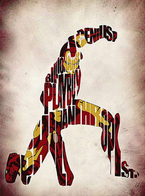 Ayse Werner typography illustrations superheroes