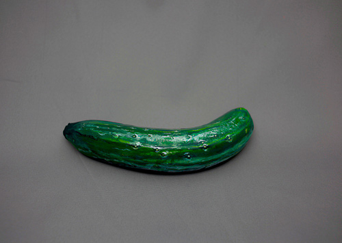 Hikaru Cho bizarre body paintings cucumber banana