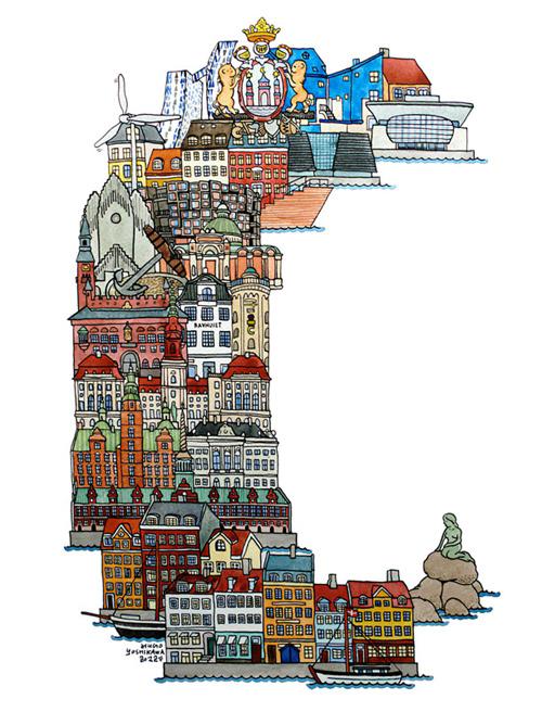 hugo yushikawa city abc alphabet europe