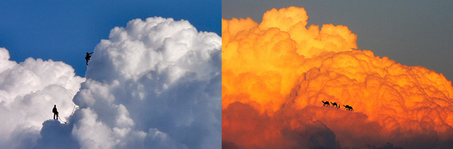 You'll Be Amazed How This Guy Plays With His Imaginations To These Clouds