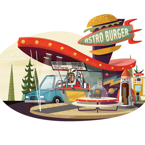 Christopher Lee Portraits of America's Food Stands illustration