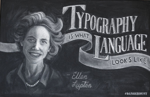 Dangerdust typography illustrations chalk dusts