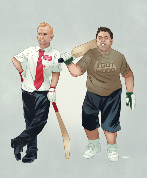 Dave Collinson buddy BFF illustration