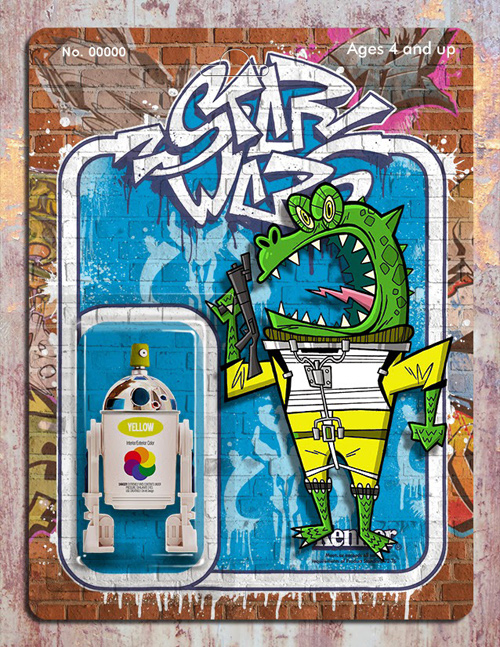 Phil Postma Star Wars graffiti illustrations