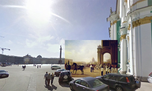 Halley Docherty The Guardian classic paintings Google Street View