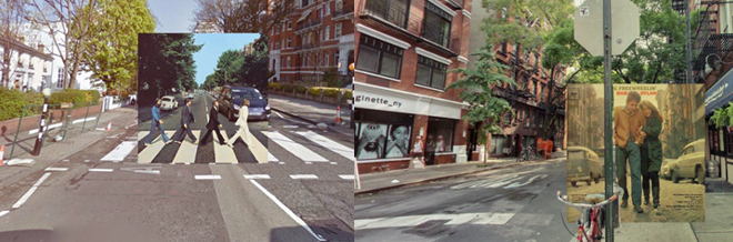 Classic Album Covers Fittingly Superimposed In Google Street Views