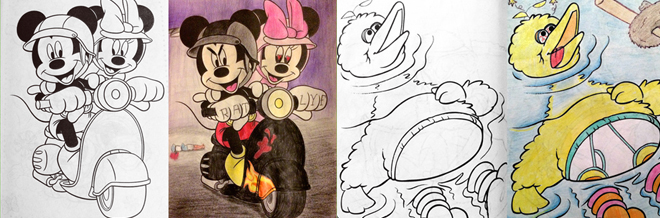 Innocent Coloring Book Crazily Turned Into Corrupted Images