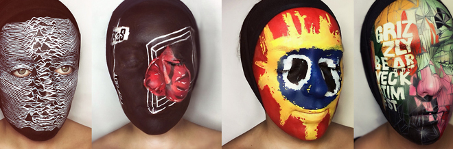 Music Album Arts Impressively Painted In An Actual Face