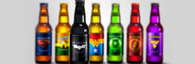 Get 'Super' Tipsy With These Super Hero Beers Illustrations