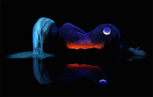 John Poppleton beautiful mountain lake bodyscapes black light photography