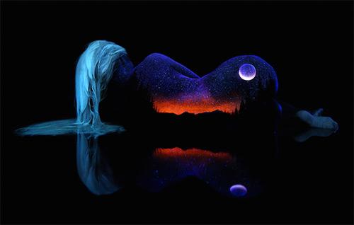 John Poppleton beautiful mountain lake bodyscapes black light photography