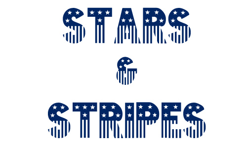 Stars stripes free 4th of july fonts
