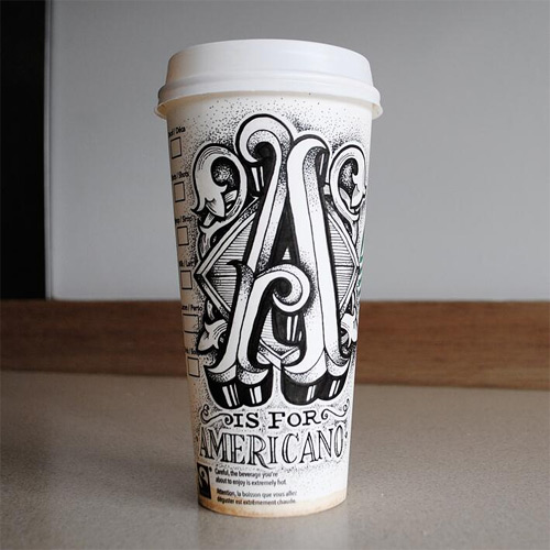 rob drape typography coffee cups featured