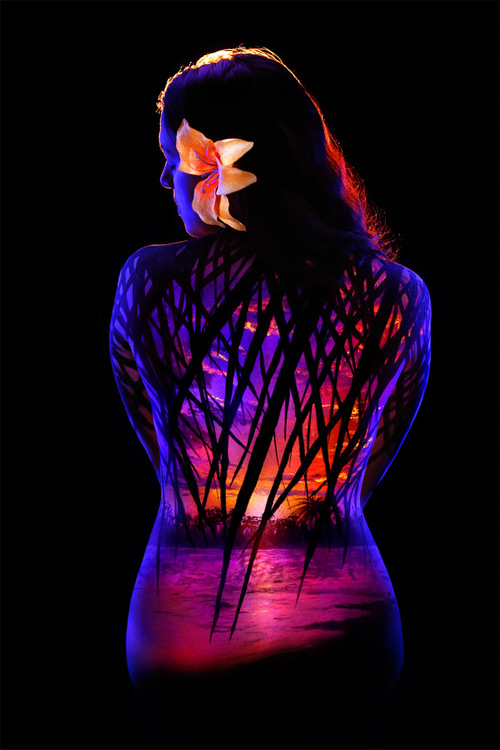 John Poppleton bodyscapes botanical black light photography