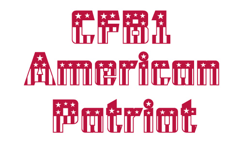American flag free 4th of july fonts