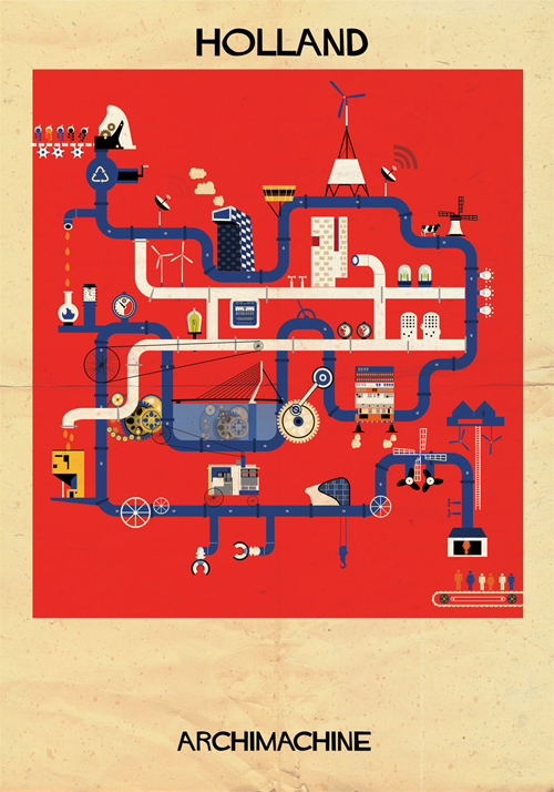Federico Babina Archimachine illustrations