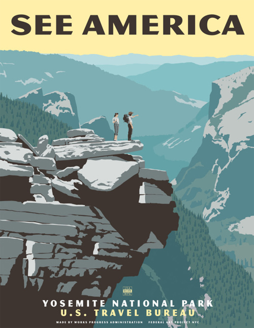 Steve Thomas featured travel posters See America