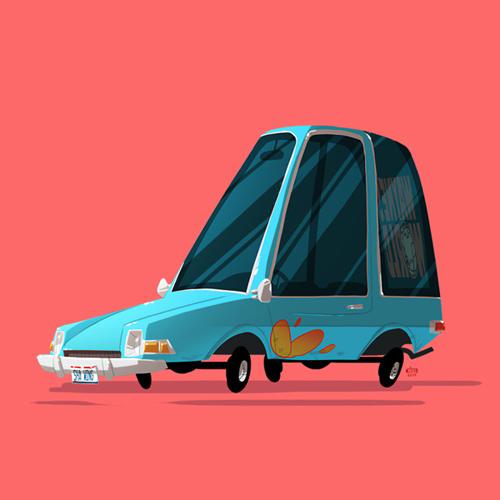 Ido Yehimovitz Greatest Rides cars illustrations