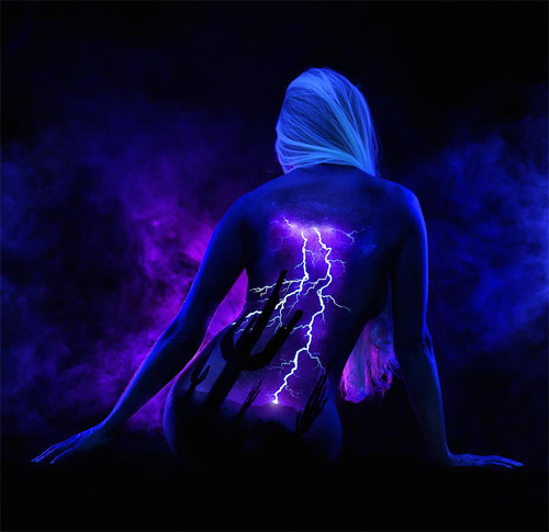John Poppleton desert storm bodyscapes black light photography