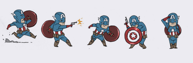 Famous Superheroes Adorably Illustrated To Their Cute Mini Versions