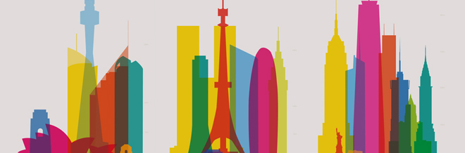 Breathtaking City Architectures Beautifully Illustrated In Colorful Silhouettes