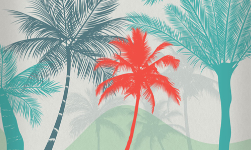 Beautiful free palm tree brushes