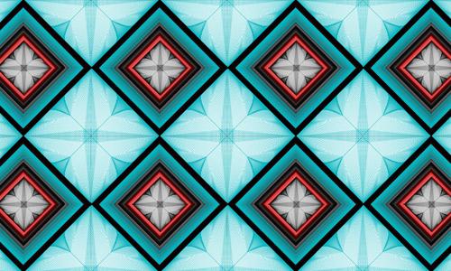 Blue diamond patterns