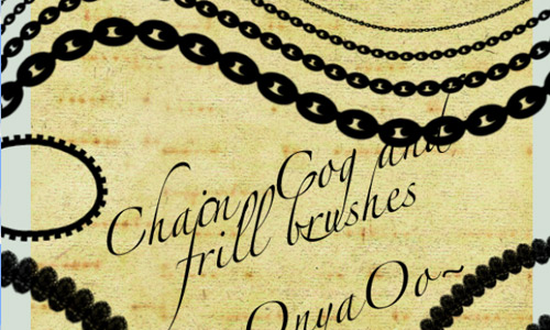 Steampunk chain photoshop brushes free
