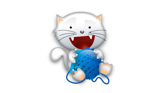 White cat icon free