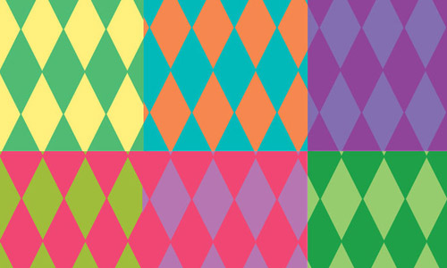 colorful diamond patterns