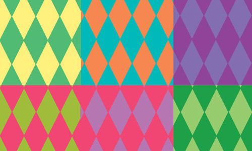 colorful diamond patterns