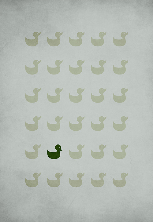 The Ugly Duckling  minimalist illustration sinch