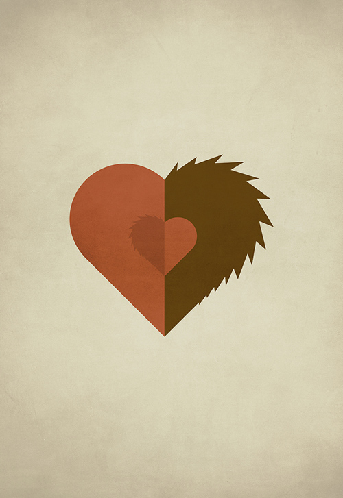 Beauty and the Beast  minimalist illustration sinch