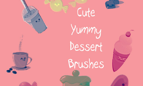 Cute dessert brushes