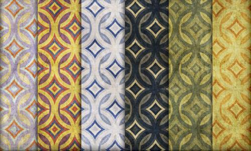 vintage diamond patterns