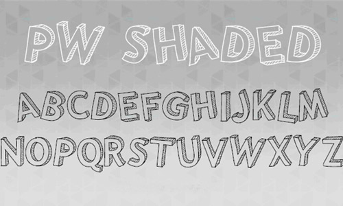 Shade free drop shadown fonts