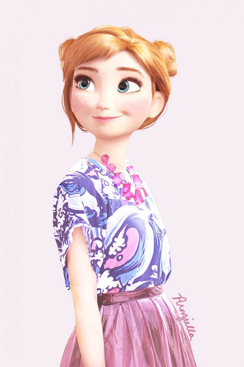 punziella disney character modern fashion featured