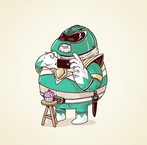 Alex santos fat chunky cartoon superheroes featured