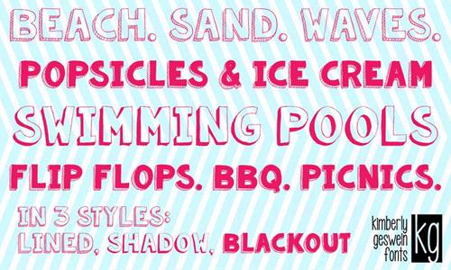 summer free drop shadown fonts