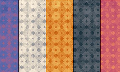 Grunge grungy diamond patterns